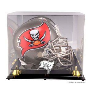 Tampa Bay Buccaneers Golden Classic Helmet Display Case with Mirrored Back