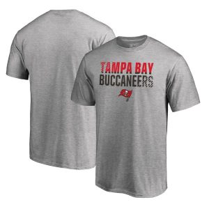 Men's Tampa Bay Buccaneers Ash Iconic Collection Fade Out T-Shirt
