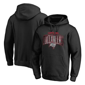 Men's Tampa Bay Buccaneers Black Arch Smoke Pullover Hoodie