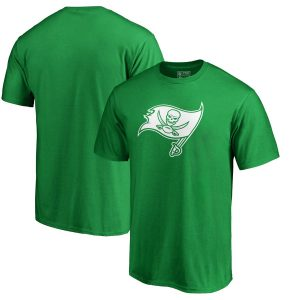 Men's Tampa Bay Buccaneers Green Big & Tall St. Patrick's Day White Logo T-Shirt