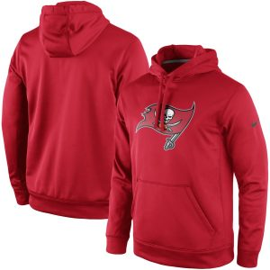 Men's Tampa Bay Buccaneers Nike Red Circuit Logo Essential Performance Pullover Hoodie
