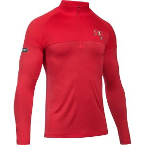 Men's Tampa Bay Buccaneers Under Armour Novelty Tech Quarter-Zip Pullover Jacket