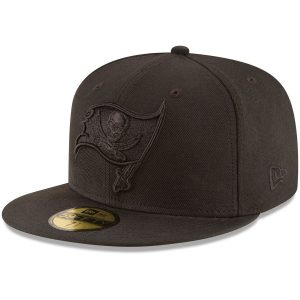 New Era Tampa Bay Buccaneers Black on Black 59FIFTY Fitted Hat