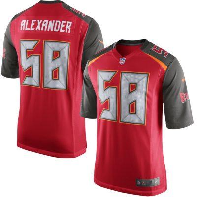 Nike Kwon Alexander Tampa Bay Buccaneers Red Game Jersey