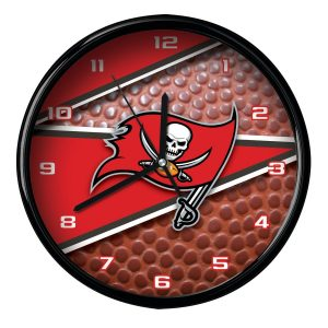 "Tampa Bay Buccaneers 12"" Football Clock"