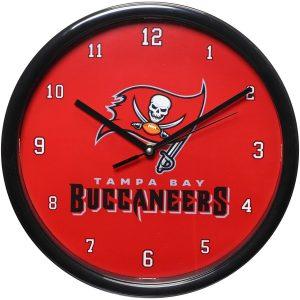 Tampa Bay Buccaneers Historic Logo Black Rim Basic Clock