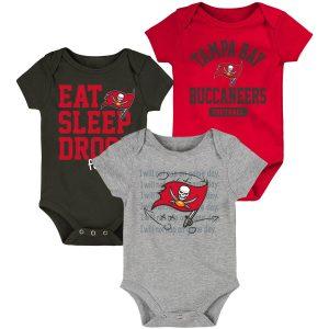 Tampa Bay Buccaneers Newborn & Infant Three-Piece Bodysuit Set