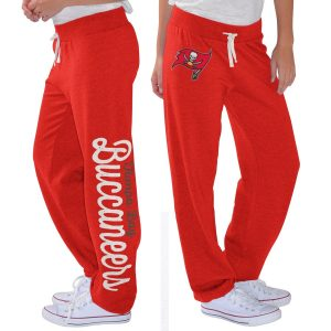 Women's Tampa Bay Buccaneers G-III 4Her by Carl Banks Red Scrimmage Fleece Pants