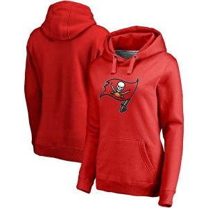Women's Tampa Bay Buccaneers NFL Pro Line Red Primary Team Logo Pullover Hoodie