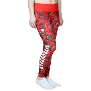 Women's Tampa Bay Buccaneers Red Static Rain Leggings