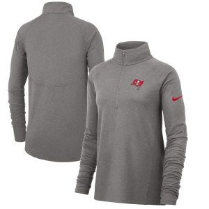 Women's Tampa Bay Buccaneers Nike Gray Performance Half-Zip Core Jacket