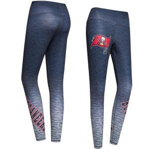 Tampa Bay Buccaneers Concepts Sport Women's Flyaway Knit Sublimated Leggings – Navy