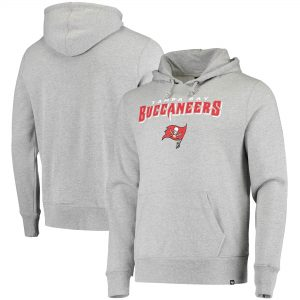 '47 Tampa Bay Buccaneers Heathered Gray Pregame Headline Pullover Hoodie
