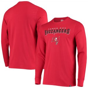 '47 Tampa Bay Buccaneers Red Blockout Super Rival Long Sleeve T-Shirt