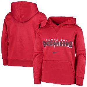 Nike Tampa Bay Buccaneers Youth Red Wordmark Pullover Hoodie