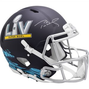 Autographed Tampa Bay Buccaneers Tom Brady Riddell Super Bowl LV Speed Authentic Helmet