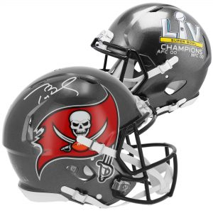 Autographed Tampa Bay Buccaneers Tom Brady Super Bowl LV Champions Authentic Helmet
