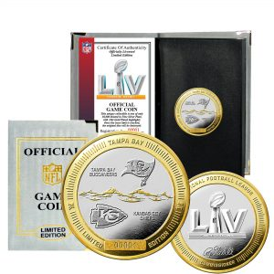 Kansas City Chiefs vs. Tampa Bay Buccaneers Highland Mint Super Bowl LV Matchup Official 2-Tone Flip Coin