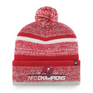 Men's Tampa Bay Buccaneers '47 Red 2020 NFC Champions Northward Cuffed Pom Knit Hat