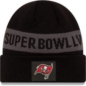 Men's Tampa Bay Buccaneers New Era Black Super Bowl LV Bound Cuffed Knit Hat