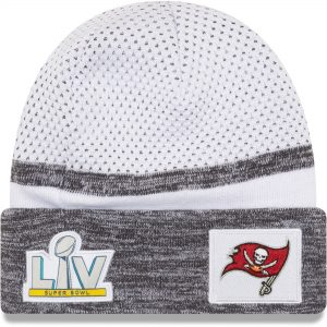 Men's Tampa Bay Buccaneers New Era White Super Bowl LV Knit Hat