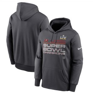 Men's Tampa Bay Buccaneers Nike Anthracite Super Bowl LV Champions Pullover Hoodie