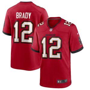 Men's Tampa Bay Buccaneers Tom Brady Nike Red Game Player Jersey
