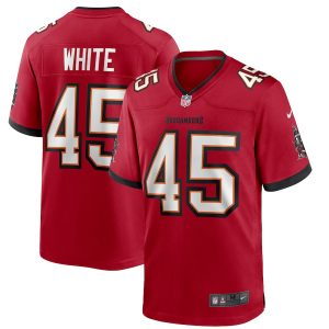 Nike Devin White Tampa Bay Buccaneers Red Team Game Jersey