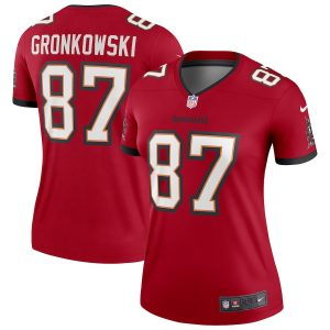 Nike Rob Gronkowski Tampa Bay Buccaneers Women's Red Legend Jersey