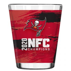Tampa Bay Buccaneers 2020 NFC Champions Sublimated Shot Glass 2-Pack