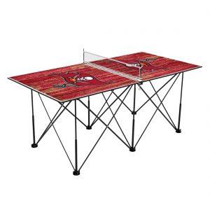Tampa Bay Buccaneers 6′ Weathered Design Pop Up Table Tennis Set