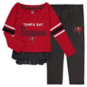 Tampa Bay Buccaneers Girls Toddler Long Sleeve T-Shirt & Pants Set