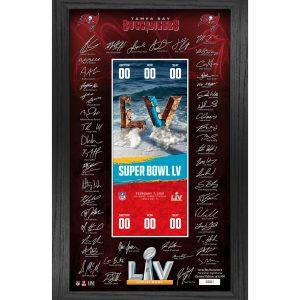 "Tampa Bay Buccaneers Highland Mint Super Bowl LV Bound 12"" x 20"" Framed Signature Ticket"