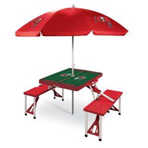 Tampa Bay Buccaneers Picnic Table & Umbrella