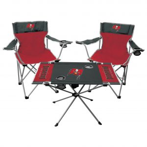 Tampa Bay Buccaneers Rawlings Tailgate Table & Chairs Set
