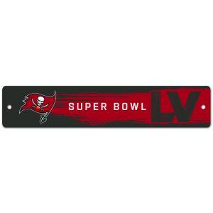 "Tampa Bay Buccaneers WinCraft Super Bowl LV Bound 3.75"" x 19"" Street Sign"