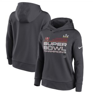 Women's Tampa Bay Buccaneers Nike Anthracite Super Bowl LV Champions Pullover Hoodie